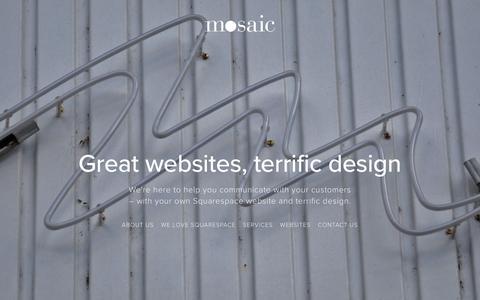 Screenshot of Home Page mosaicstudios.com.au - Mosaic Studios - captured Nov. 29, 2016