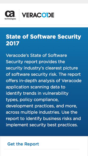 State of Software Security 2017   Veracode