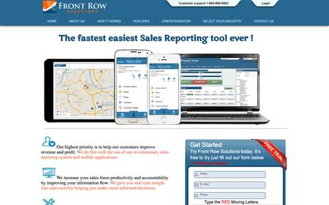 Screenshot of Trial Page frontrowsolutions.com - FRS   Try a demo - captured Nov. 3, 2014