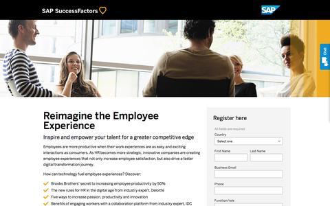 Reimagine the Employee Experience             | SuccessFactors