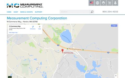 Screenshot of Maps & Directions Page mccdaq.com - Directions - captured Oct. 4, 2017