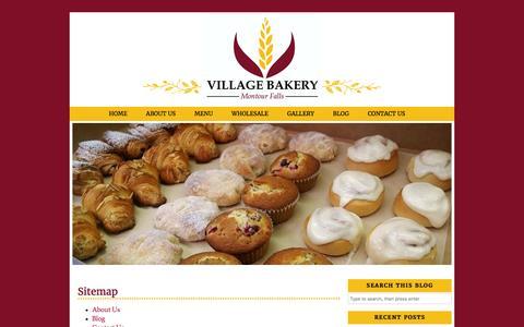 Screenshot of Site Map Page villagebakerymf.com - Sitemap | Village Bakery - captured Feb. 14, 2016