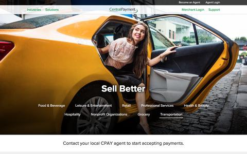 Screenshot of Home Page cpay.com - Central Payment - Sell Better - captured March 17, 2018