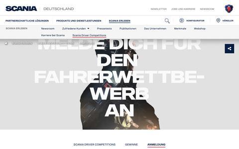 Screenshot of Signup Page scania.com - Sign up | Scania Deutschland - captured Oct. 29, 2018