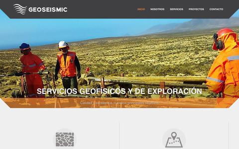 Screenshot of Home Page geoseismic.cl - Geoseismic Exploraciones -Servicios Geofísicos geoseismic - captured Jan. 27, 2016