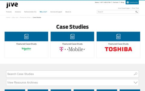 Screenshot of Case Studies Page jivesoftware.com - Case Study Archive - Jive Software - captured July 20, 2014