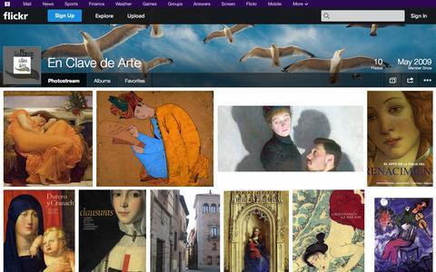Screenshot of Flickr Page flickr.com - Flickr: En Clave de Arte's Photostream - captured Oct. 23, 2014
