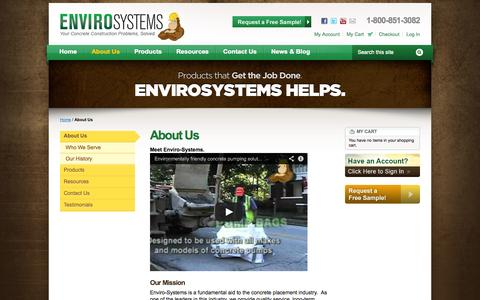 Screenshot of About Page envirosys.us - About us | Enviro-Systems - captured Oct. 3, 2014