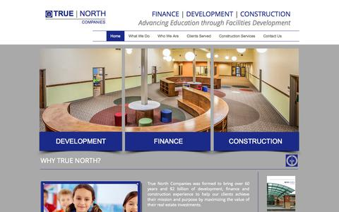 Screenshot of Home Page true-north-companies.com - True North Companies - captured Oct. 8, 2014