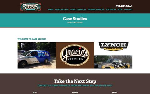 Screenshot of Case Studies Page lexsigns.com - Case Studies Archive | Lexington Signs - captured Dec. 26, 2016
