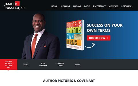 Screenshot of Press Page jamesrosseausr.com - Press Information for Author & Motivational Speaker James B Rosseau Sr - captured July 8, 2018