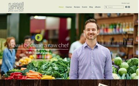 Screenshot of About Page therawchef.com - About - The Raw Chef - captured Jan. 18, 2016