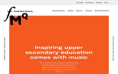 Screenshot of Home Page fmq.fi - FMQ - Finnish Music Quarterly - captured Oct. 13, 2017