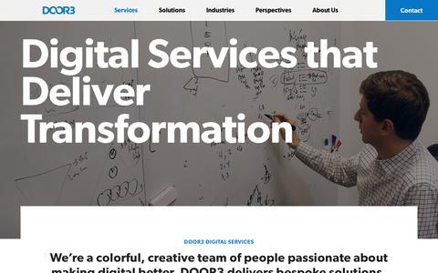 Screenshot of Services Page door3.com - Services: Digital Strategy, Software Design & Development, UX UI, Front-end Design DOOR3 - captured Dec. 6, 2018