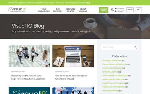 Screenshot of Blog visualiq.com - Blog - Visual IQ - captured Sept. 28, 2017