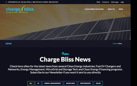 Screenshot of Press Page chargebliss.com - Charge Bliss :: News - captured Dec. 8, 2015