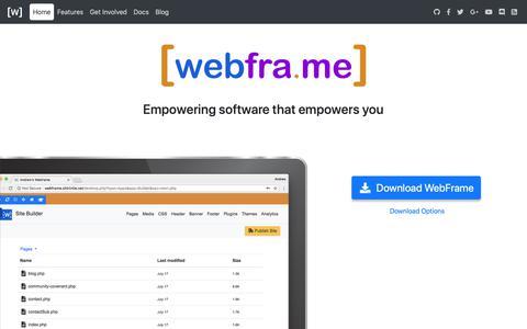 Screenshot of Home Page webfra.me - WebFra.me - captured Oct. 18, 2018