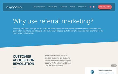 Screenshot of Case Studies Page buyapowa.com - Why you need a referral marketing programme now | Buyapowa - captured Oct. 15, 2016