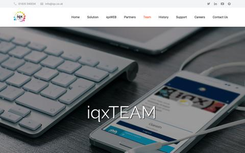 Screenshot of Team Page iqx.co.uk - Our Team - Directors & Key Contacts - IQX Limited - captured Oct. 2, 2018