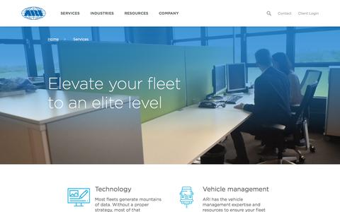 Screenshot of Services Page arifleet.com - Fleet Services | Fleet Management Services | ARI USA - captured July 12, 2019