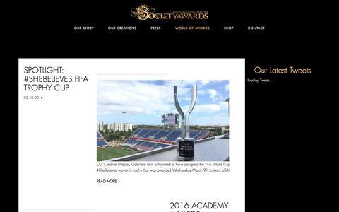 Screenshot of Blog societyawards.com - Our Blog | Custom Designed Crystal & Glass Awards - captured March 21, 2016