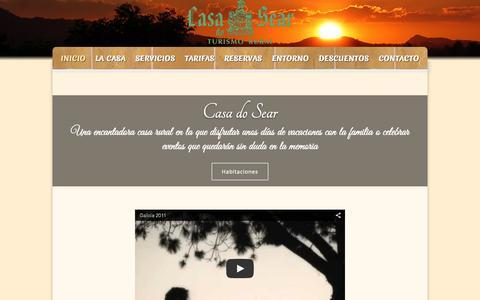 Screenshot of Home Page casadosear.com - Casa Do Sear Turismo Rural en Sanxenxo, Rías Baixas - captured July 19, 2015