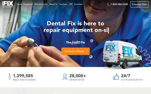 Screenshot of Home Page dentalfixrx.com - Dental Fix Rx: Local Dental Equipment Repair & Handpiece Repair - captured June 25, 2019