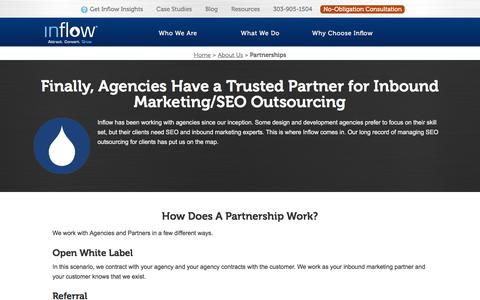 Screenshot of goinflow.com - SEO Outsourcing to Experts: Partner with Inflow to Resell SEO - captured March 20, 2016