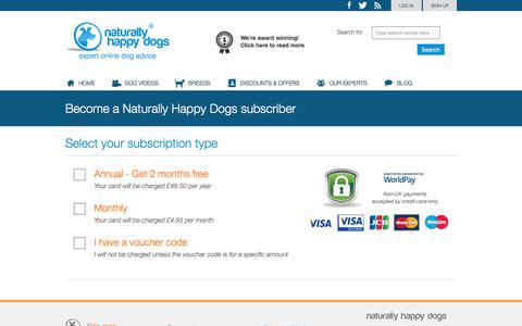 Screenshot of Signup Page naturallyhappydogs.com - Sign up - Naturally Happy Dogs - captured June 11, 2017