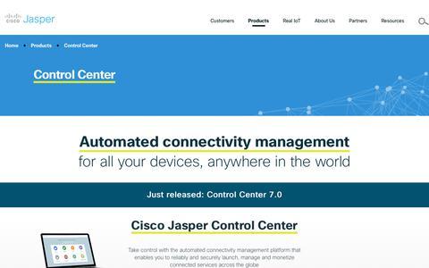 Screenshot of Products Page jasper.com - IoT Connectivity management products | Cisco Jasper - captured June 28, 2017