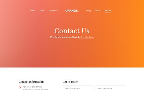 Screenshot of Contact Page abcnetworks.net - Orange — Free Website Template, Free HTML5 Template by FreeHTML5.co - captured Nov. 12, 2018