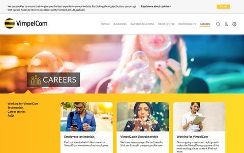 Screenshot of Jobs Page vimpelcom.com - Careers - VimpelCom - captured Nov. 30, 2015