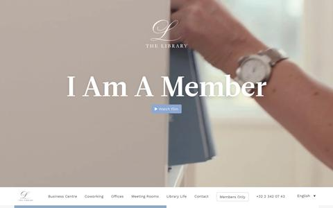 Screenshot of Home Page thelibrarygroup.be - Coworking, office for rent, meeting rooms in Brussels | The Library Group - captured Sept. 21, 2018