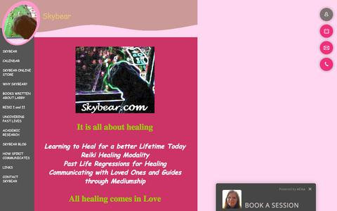 Screenshot of Home Page skybear.com - Medium Deborah Foulkes Reiki Reincarnation Past Lives Regressions - captured June 29, 2018