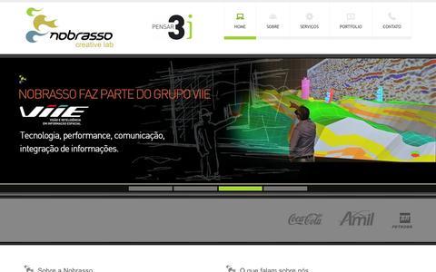 Screenshot of Home Page nobrasso.com - Home - Nobrasso Design Estratégico - Rio de Janeiro. - captured Oct. 7, 2014