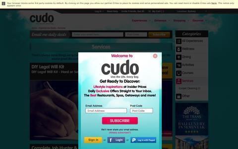 Screenshot of Services Page cudo.com.au - Sydney Services Deals @ Cudo - captured July 16, 2016