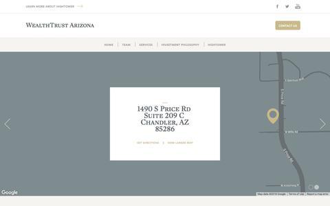 Screenshot of Contact Page hightoweradvisors.com - WealthTrust Arizona - Contact - captured Sept. 21, 2018