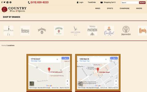 Screenshot of Locations Page cwspirits.com - Locations - captured Nov. 13, 2016