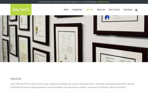 Screenshot of Services Page keytechinc.com - Services - Key Tech - captured Aug. 9, 2016