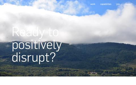 Screenshot of Signup Page nonobject.com - Ready to positively disrupt? Join us! - captured Sept. 20, 2018