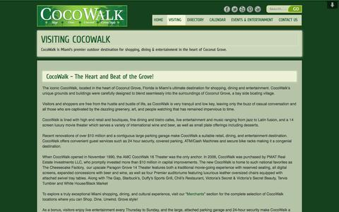 Screenshot of About Page cocowalk.net - VISITING COCOWALK | CocoWalkCocoWalk - captured Sept. 30, 2014
