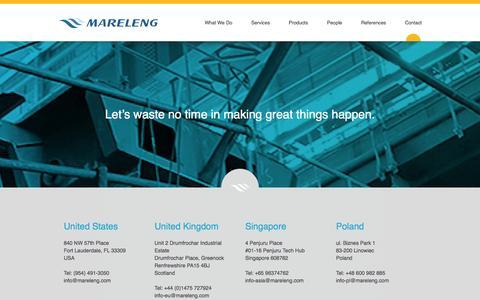 Screenshot of Contact Page mareleng.com - Contact | Mareleng - captured Oct. 29, 2014
