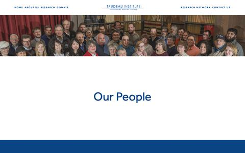 Screenshot of Team Page trudeauinstitute.org - People — Trudeau Institute - captured Nov. 19, 2018