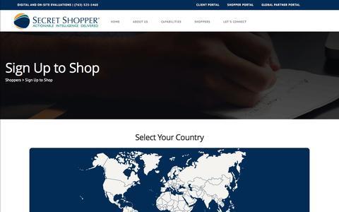 Screenshot of Signup Page secretshopper.com - Becoming a Mystery Shopper   Secret Shopper - captured Nov. 18, 2016