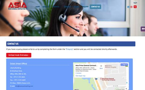 Screenshot of Contact Page asiacontracting.com - Asia Contracting - captured Nov. 21, 2016