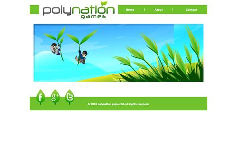 Screenshot of Home Page polynationgames.com - Home | polynation games - captured Oct. 3, 2014