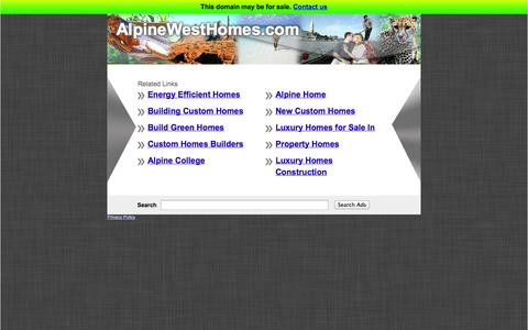 Screenshot of Home Page alpinewesthomes.com captured Oct. 6, 2014