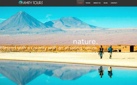 Screenshot of Home Page amity-tours.com - Amity Tours Chile  Amity Tours Chile - Bike Tours - Skiing Tours - Hiking Tours - Family Tours - captured May 30, 2017
