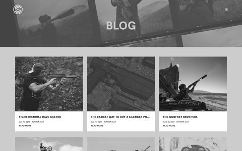 Screenshot of Blog silencerco.com - Blog - SilencerCo - captured July 22, 2016