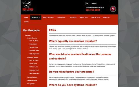 Screenshot of FAQ Page drillviewvideo.com - Oilfield Surveillance Systems | Oilfield Surveillance Cameras - captured Oct. 6, 2014